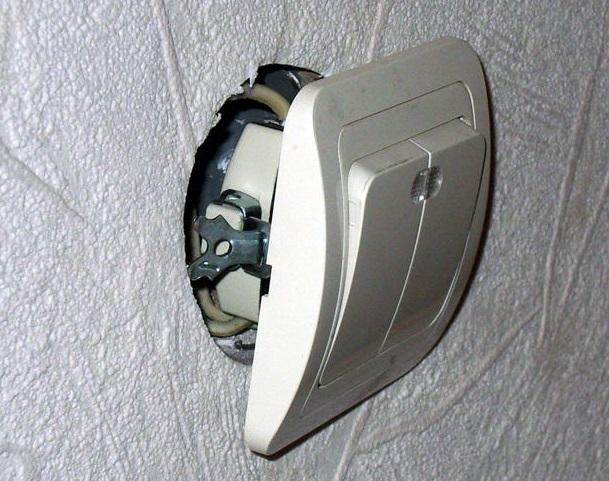 Установка выключателя 5