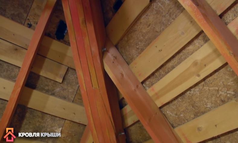 Потолок мансарды до утепления