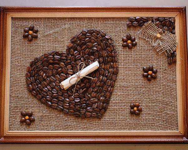 панно из кофейных зерен, фото 12