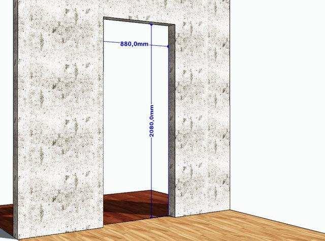 Размер дверного проема для двери 190 на 80 см