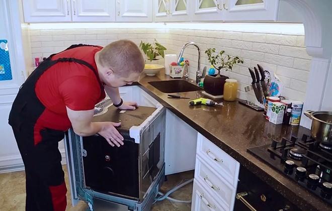 Демонтаж посудомойки