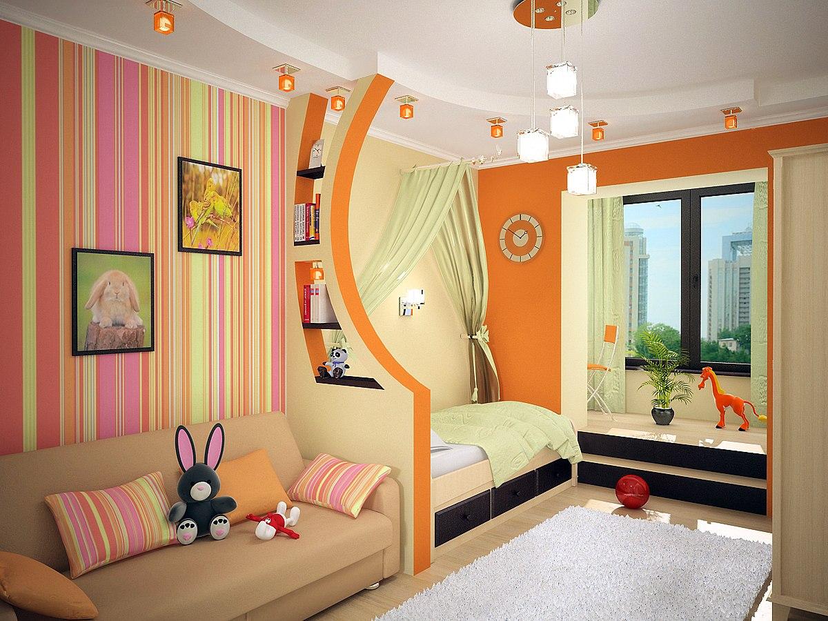 Детская комната для мальчика с ярким декором