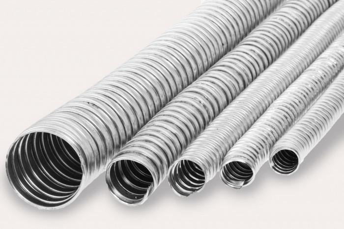 На рынке представлен широкий ассортимент металлических рукавов для кабелей