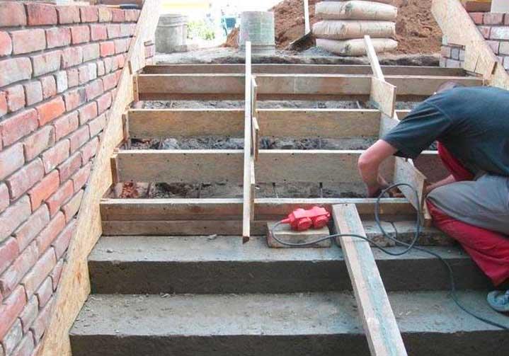 Ступени для крыльца из бетона должны быть таких размеров, чтобы на них удобно было становиться
