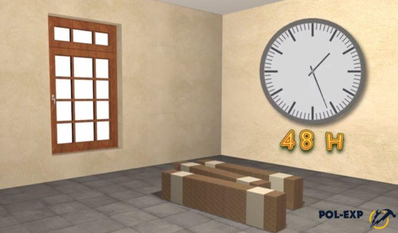Ламинат должен побыть в помещении 48 часов