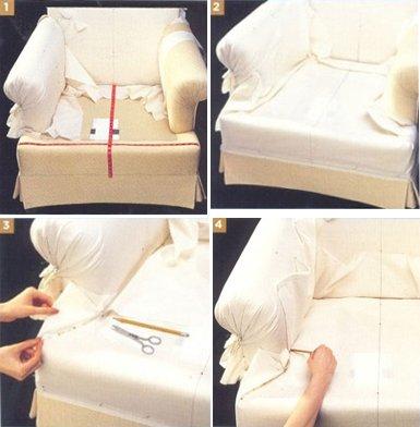 Пошив чехла на мебель своими руками