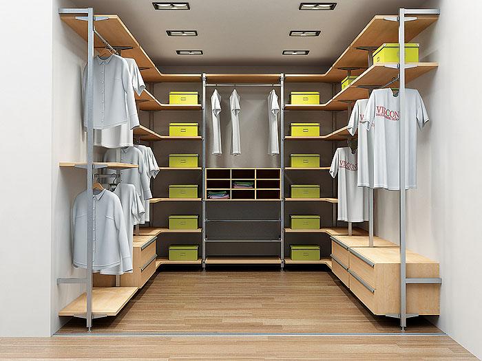 Стильная отделка гардеробной комнаты
