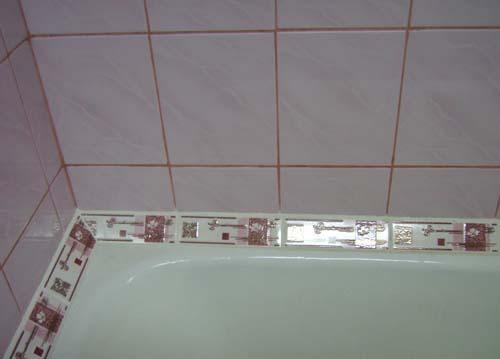 Плитка для заделки шва в ванной