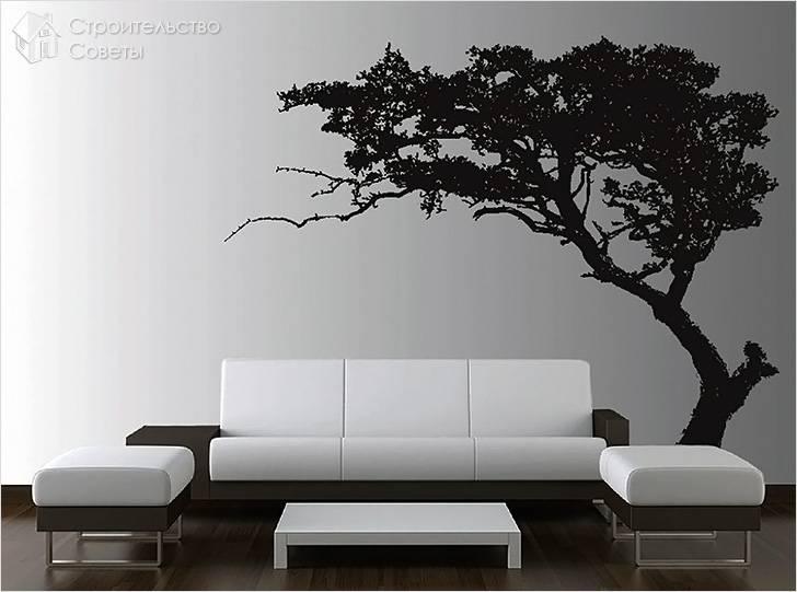 Черно-белая фреска