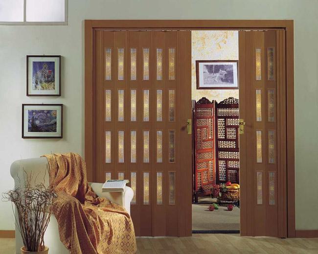 Двери гармошка с верхней направляющей