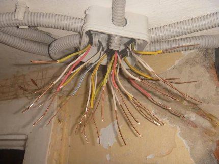 Гофра для электропроводов