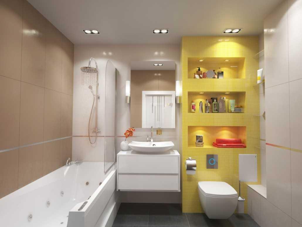 идея необычного интерьера ванной комнаты