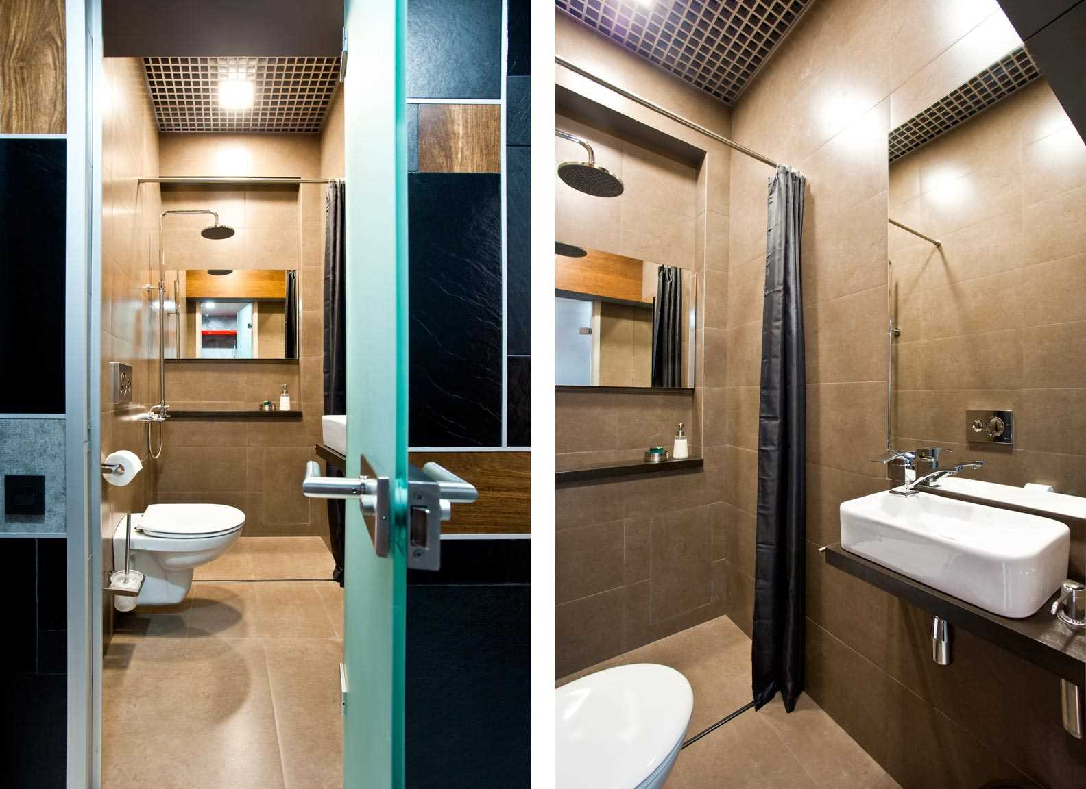 вариант яркого интерьера ванной