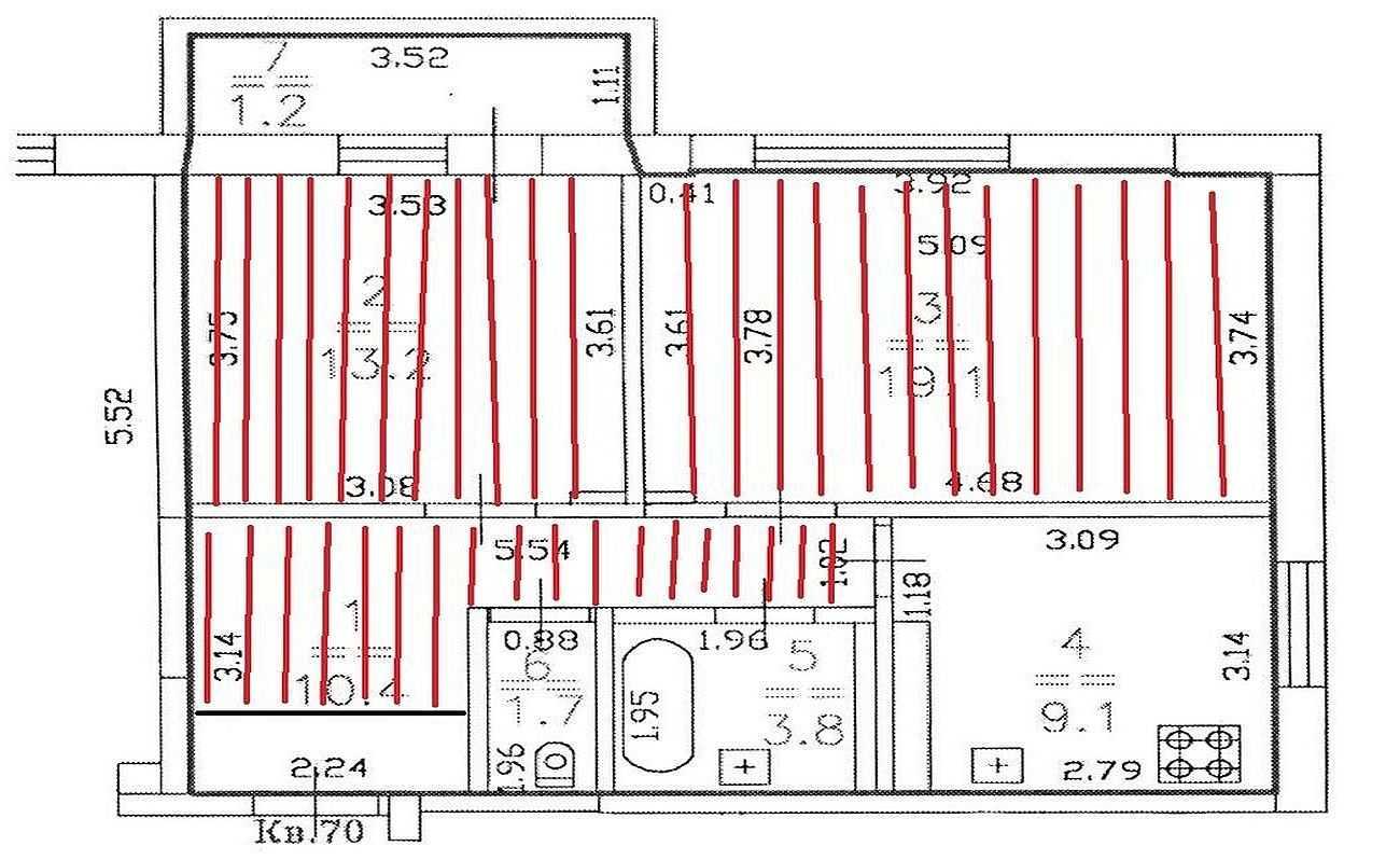 Как правильно класть ламинат: план по комнатам