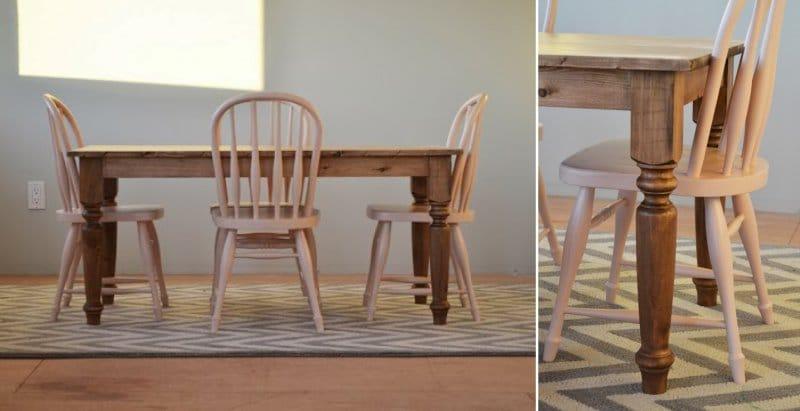Кухонный стол своими руками - идеи дизайна - мореное дерево
