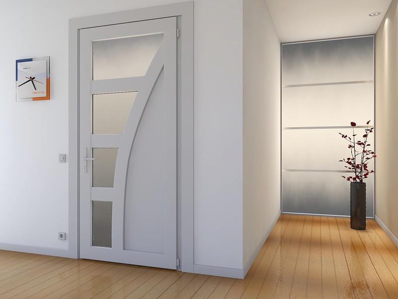 Не менее популярными на сегодняшний день являются межкомнатные двери из пластика