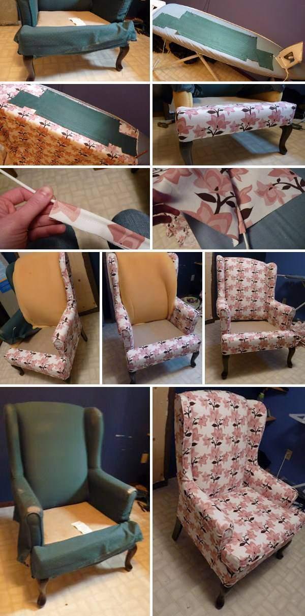 Реставрация мягкой мебели своими руками - перетяжка кресла