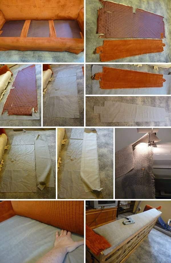 Ремонт и обивка мягкой мебели - дивана с подушками