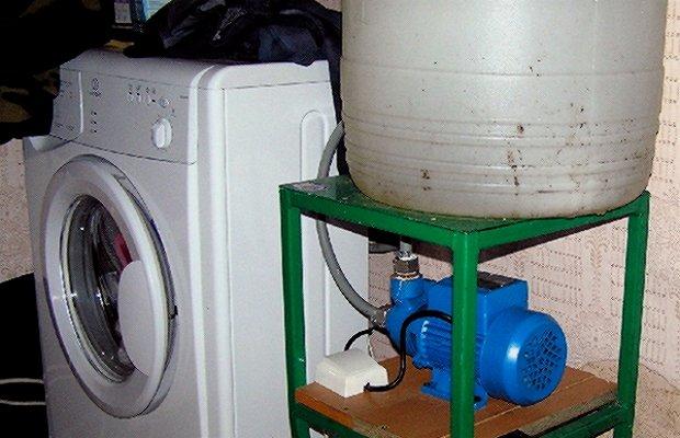 Подключение стиралки в доме без водопровода