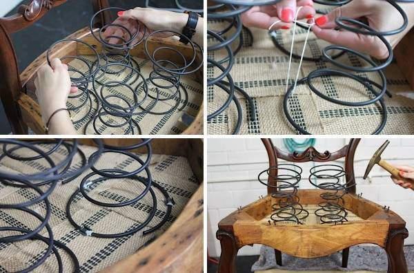 Ремонт мягкой мебели своими руками - починка пружин
