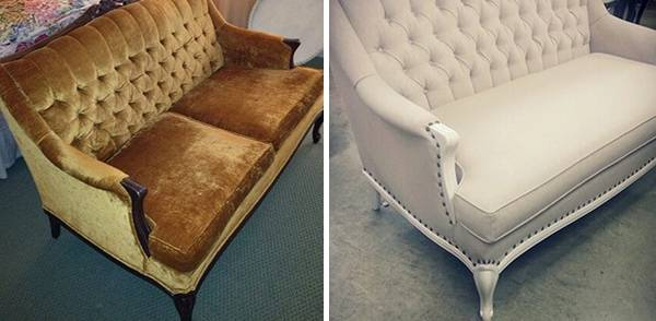 Ремонт дивана своими руками в классическом стиле