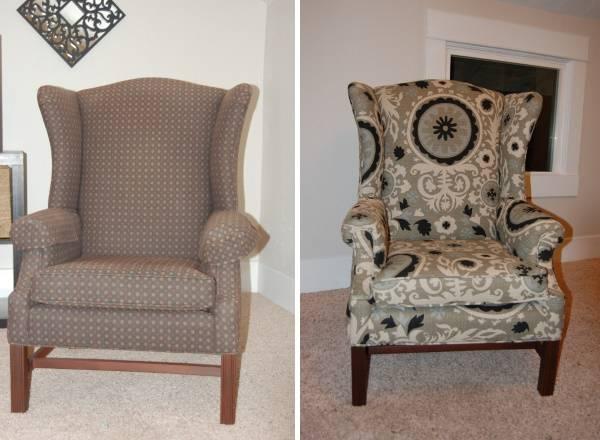 Реставрация мягкой мебели - перетяжка старого кресла