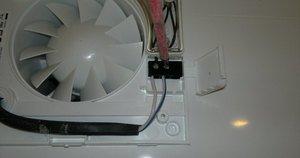 Схема установки вентилятора к выключателю