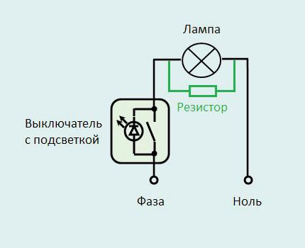 Схема размещения резистора