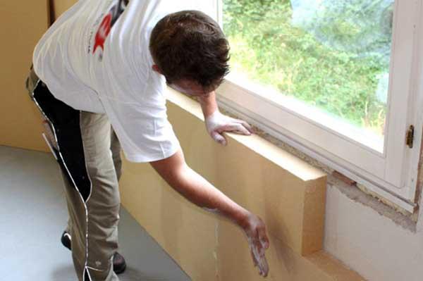 Как клеить пеноплекс на стену
