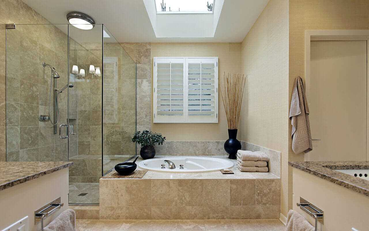 вариант оригинального дизайна ванной комнаты