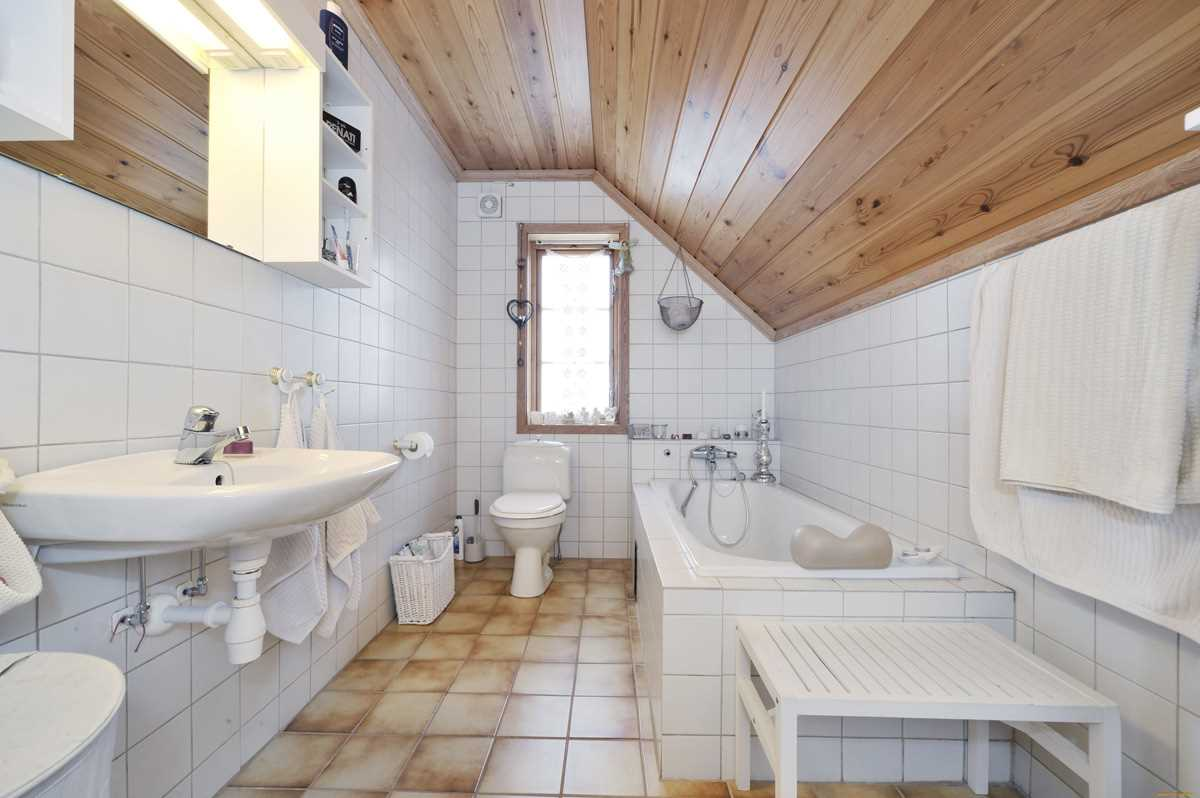 вариант красивого дизайна ванной комнаты