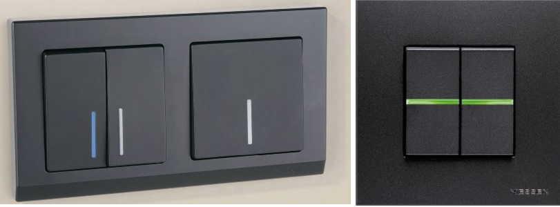 Светящийся элемент может быть в виде небольшой точки или черты