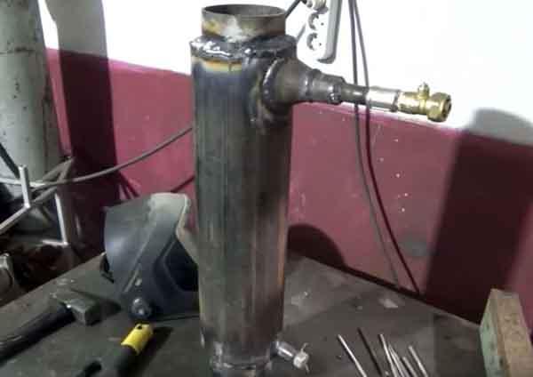 Сваривание железной трубы со штуцерами