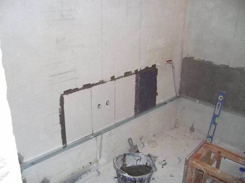 Укладка плитки от центра стены
