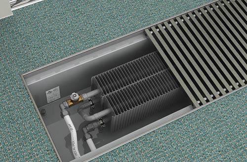 Конвекционный радиатор в полу