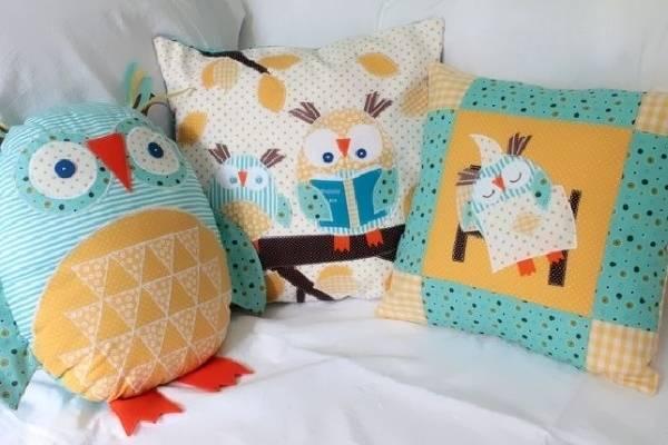 """Забавные подушки на диван - фото набора """"Совы"""""""