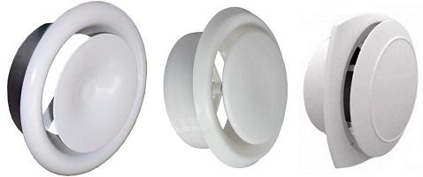 Анемостаты с тарелками разных типов