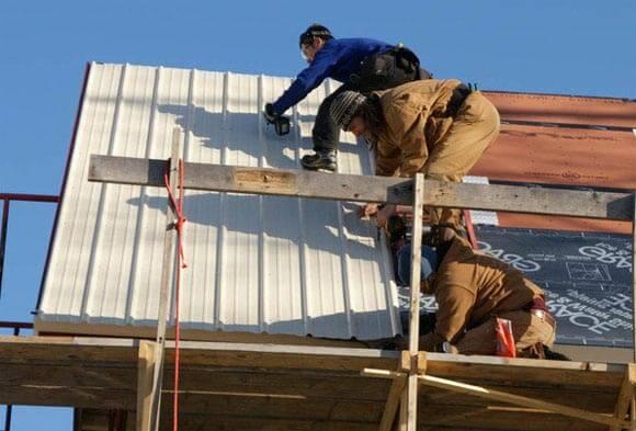 крыша из металлопрофиля своими руками