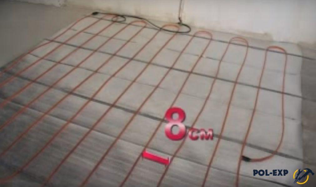 Шаг укладки витков кабеля