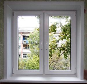 Металлоплатиковое окно