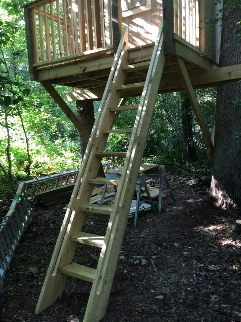 Закреплённая лестница