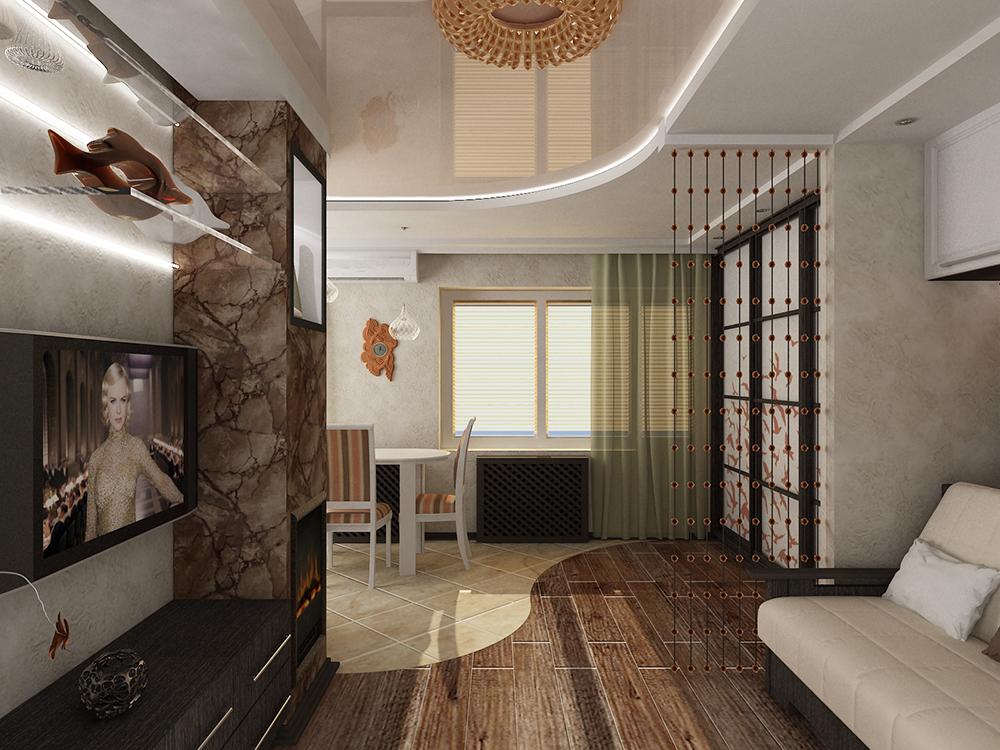 Вариант стильного оформления квартиры