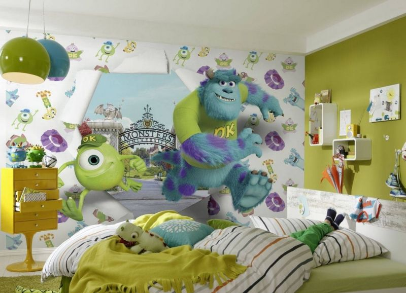 3д обои в детской комнате