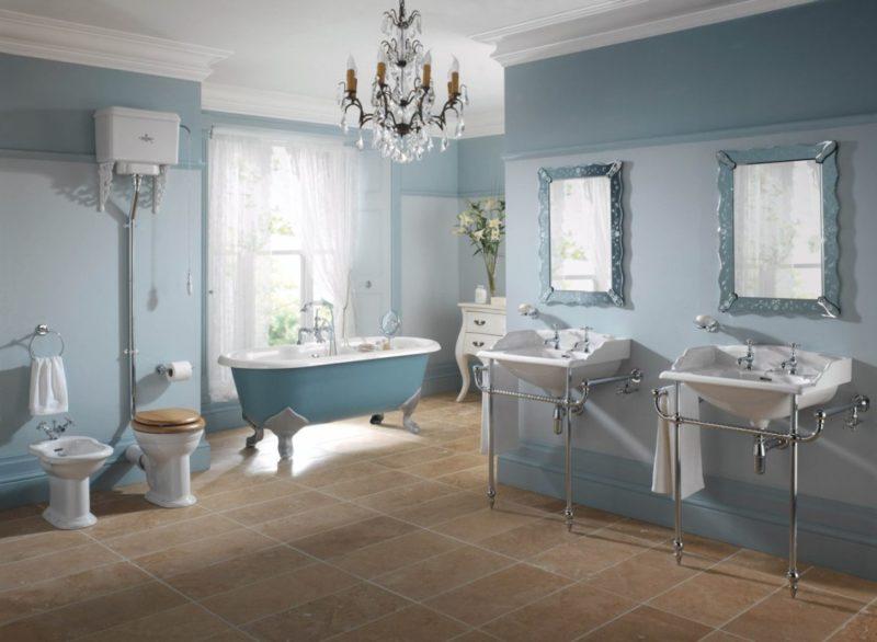 Правила окрашивания стен в ванной комнате