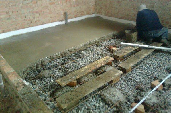 бетонный пол своими руками