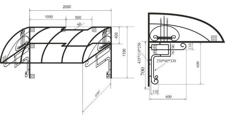 Кроме эскиза понадобится подробный чертеж конструкции с точно указанными параметрами
