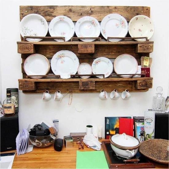 Кухонная полка из поддона