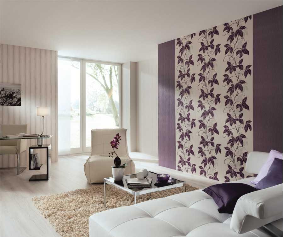 Поклейка обоев трех цветов в одной комнате: лучше использовать одну коллекцию