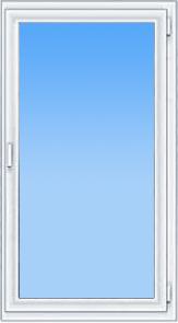 пластиковое одностворчатое окно