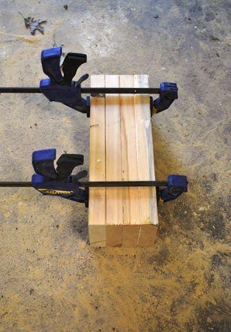 Склейка передних ножек кресла